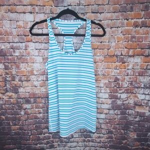 Lululemon Blue and White Tank Top Size 10